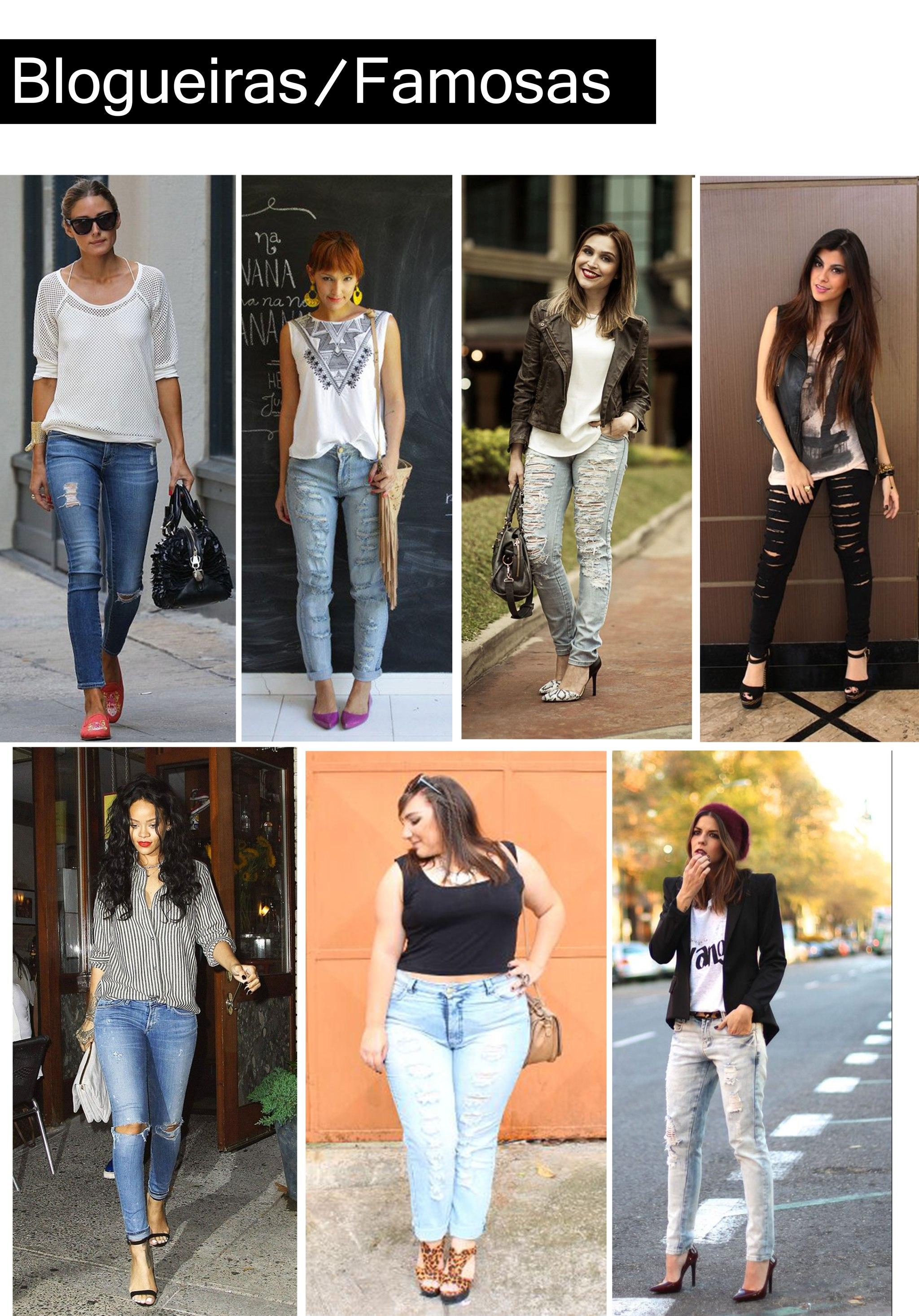 blogueiras_famosas com calça destroyed / blogueiras_famosas com destroyed jeans