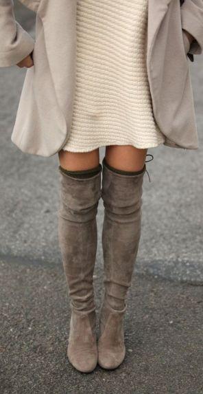 Inspiração Winter is coming botas Over The Knee belezacalculada