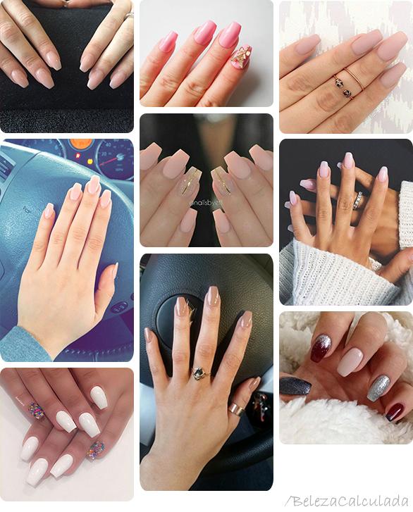 Squariletto unhas nail curtas e medias beleza calculada