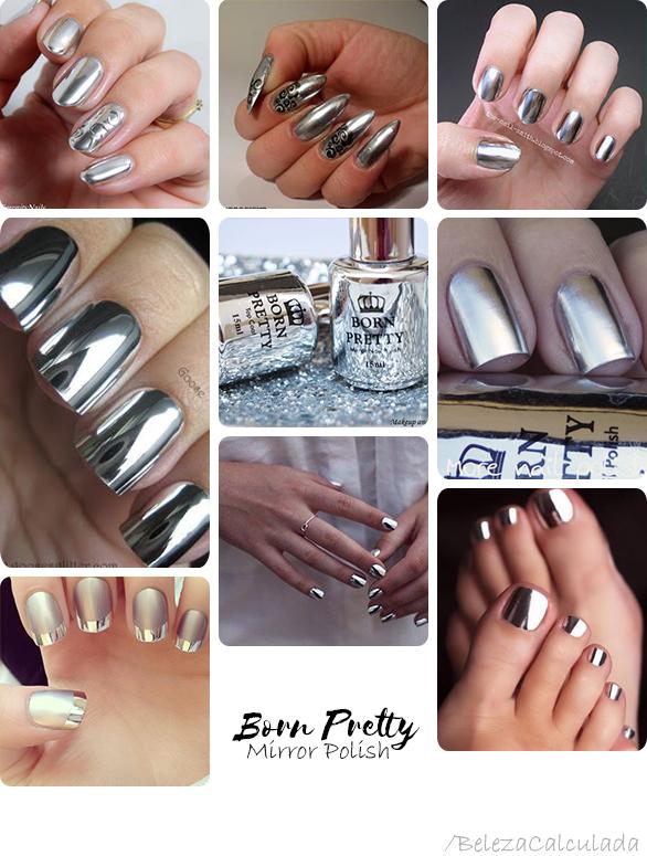 Born Pretty Mirror Polish nail unhas beleza calculada