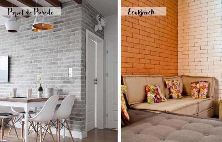parede de tijolos decorativos2 beleza calculada